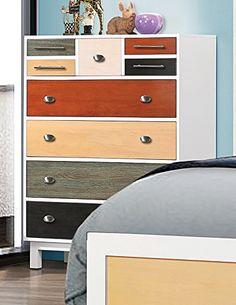 Coaster 400795 Home Furnishings Chest, Ebony/Sage/Cherry/Maple/White |