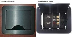 Cable-Nook #TableBox - Complete Custom Connectivity on Your Conference Table or #Desk!