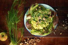 Super Green Waldorf Salad with Avocado Mayonnaise