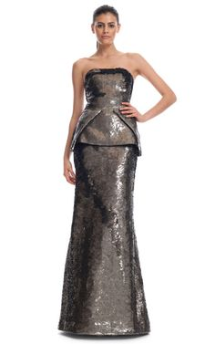 Antonio Berardi F/W '12 Embroidered Evening Gown and Sequined Peplum, $16250