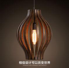 Sudeste de Asia estilo creativo de madera sola cabeza arte Retro restaurante luz colgante salón decoración lámpara envío gratis en Luces colgantes de Luces e Iluminación en AliExpress.com | Alibaba Group