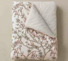 Baby Girl Blanket With Little Birds