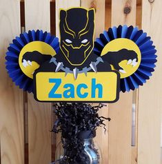Hey, I found this really awesome Etsy listing at https://www.etsy.com/listing/600263241/black-panther-centerpiece-black-panther