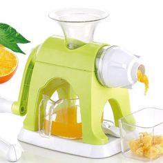 Enjoy the health benefits of fresh pressed juice using the efficient manual fruit juicer.