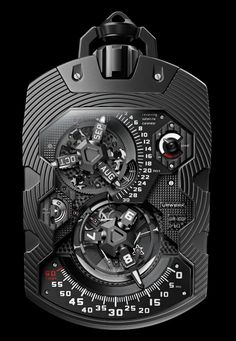 Urwerk UR-1001  Love it... Now give me this on one side and a Smart Device on the other side - or Steampunk it up.... or all of the above