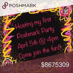 🎈🎉🛍 Hosting My First Posh Party 🛍🎉🎈 Come check it out!!!  I'm looking for amazing host picks to showcase!!!  Let's party!!!  🛍🎉🎈🛍 Accessories