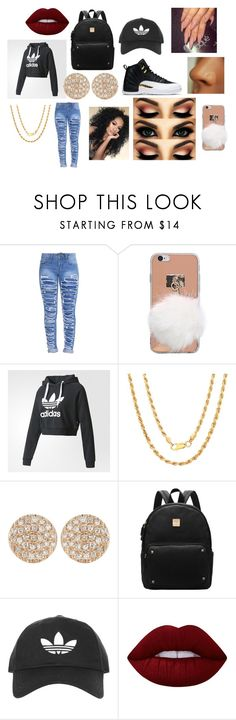 """""""sirionna outfit"""" by sirionnaw on Polyvore featuring adidas, Sterling Essentials, Dana Rebecca Designs, Topshop and Lime Crime"""