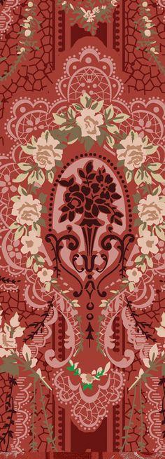 Opulent screen-printed EMPIRE DRAPE Neoclassical Reproduction Wallpaper Border