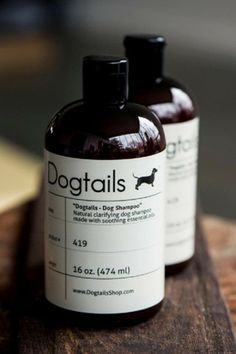 """Earth Friendly Dog Shampoo...does this belong on my """"Beauty clean and green"""" board?... Dogtails - Dog Shampoo with essential oils..."""