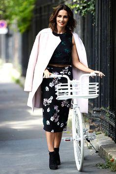 #coat #GiambattistaValli #top and #skirt #ALE #rings #GivenchyByRiccardoTisci #boots #JimmyChoo #bike #Martone