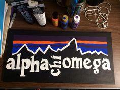 alpha chi omega patagonia canvas