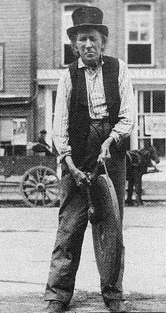 This photo of Bill Johnston's eldest son Jim shows him in later years calling people to dinner at his brother Stephen's hotel. In he helped his father evade capture and he plays a role in the novel. Newspaper Headlines, War Of 1812, The St, Plays, Counter, Brother, Novels, Dinner, People