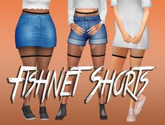 """simsy-baby: """" fishnet shorts II cool tights for cool gals i wanted these and i couldn't find any so i made some :) • one swatch • enabled for teen-young adult females • found in the tights..."""