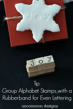 Make clay stamped gift tags for holiday gifts with Uncommon Designs