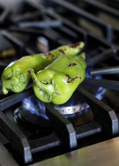 Roasted Peppers. Not a recipe, but a technique. Wish I had a gas stove. With electric I use a hot burner and iron skillet; or the broiler in my toaster oven.