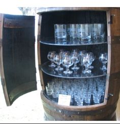 Wine barrel storage
