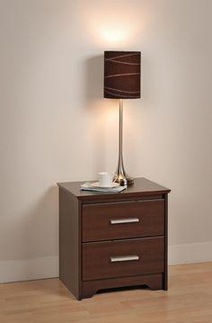 Prepac Espresso Coal Harbor 2 Drawer Nightstand, Brown