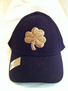 Notre Dame Swarovski Crystal Embellished Hat by HerTeamRox on Etsy, $90.00