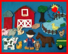 Old McDonald Had a Farm, EIEIO Felt Board Story Set by PlayfulPathFelts on Etsy