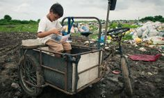 """Philippine children asked what they wanted said: """"School supplies, slippers, a pencil case, a pencil, anything that can be used for writing, and shoes.""""  """"School supplies, school bag, a T-shirt, shoes and socks."""""""