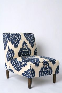 Indigo Ikat material. LOVE IT