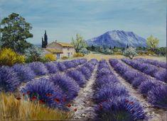 Lavender Fields, Banksy, Windmill, Garden Design, Country Roads, Watercolor, Landscape, Drawings, Painting