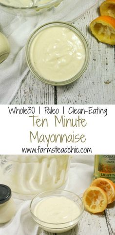 This yummy Paleo & Whole30 Mayonnaise requires only 4 ingredients (+S&P) and ten minutes! Once you try it, you'll never go back to store-bought chemical-laden mayo again!