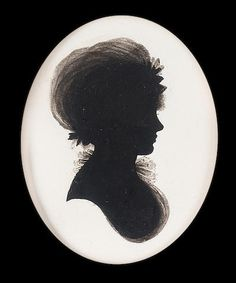Studio of John Miers (British, c.1758-1821) by John Field (British, 1772-1848) : A silhouette of a Lady called Miss Gapper