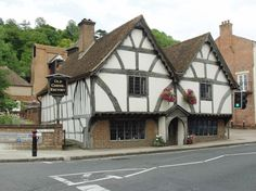The oldest house in Winchester, built in 1450. 15th Century Old Chesil Rectory, Winchester, Hampshire.
