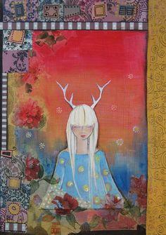 Dreamer by Johanna Virtanen Mixed Media Canvas, Johanna, Original Paintings, Fine Art, Canvas, Painting, Art, My Arts, Fine Art Prints