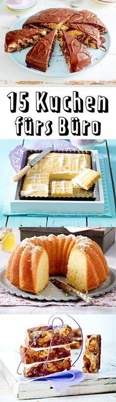 Zum Geburtstag, Einstand oder einfach so: Mit diesen unkomplizierten Kuchen fürs Büro machen Sie Ihren Kollegen eine große Freude.