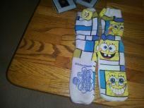 large spongebob warm socks {w/spongebobe tassel}
