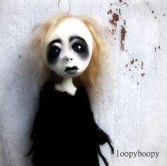 Loopy Halloween Decoration Ghost Girl Ornament