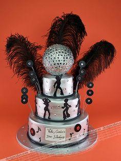 Disco theme cake by Design Cakes, via Flickr