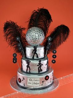 Disco theme cake by Design Cakes, via Flickr