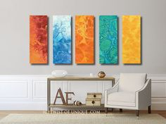 Industrial abstract painting / CUSTOM 5 painting par TwistOfUnique