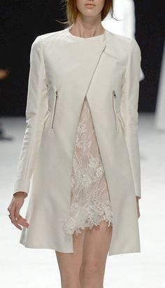 Looks like a lovely dress, wish we could see more of it. | Nina Ricca RTW Spring 2014