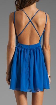 Electric Blue Dress <3