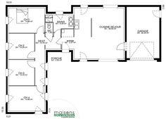 Plan Maison Plain Pied 150m2 My Place In 2018 Pinterest House