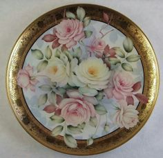 Pastel Roses Plate
