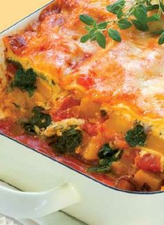 Low FODMAP Recipe and Gluten Free Recipe - Roast pumpkin & spinach lasagne  http://www.ibssano.com/low_fodmap_recipe_roast_pumpkin_spinach_lasagne.html