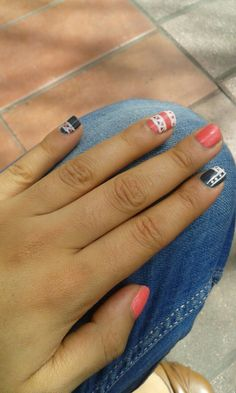 Diseño azteca - naildesign  Pink-dark grey