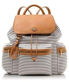 tory burch striped backpack. Trendy backpacks for girls http://www.justtrendygirls.com/trendy-backpacks-for-girls/