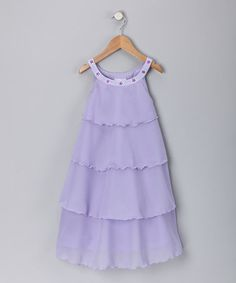 Take a look at this Lavender Tiered Chiffon Dress - Toddler & Girls by Fantaisie Kids on #zulily today!