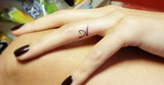 Tattoo Artist: Jay Shin. Tags: styles, Lettering, On Women, Letters, Initials, Latin Script, A. Body parts: Finger.