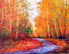 """Radiance""18x24 original palette knife oil painting by Peggy Ann Thompson painterschairfineart.com"