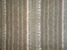 Vintage Retro 60s 70s Dark Green Fabric x 2 Remnants
