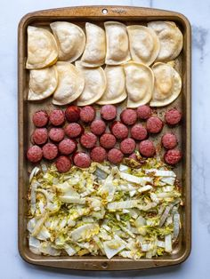 Sheet Pan Kielbasa and Pierogi Dinner?utm_source=12tomatoes Recipes Dinner, Meat Recipes, Cooking Recipes, Polish Food, Polish Recipes, Baking Dishes, Food Dishes, Oktoberfest Recipes, French Tips