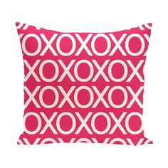 E by Design 16 x 16-inch Valentine Print Outdoor Pillow