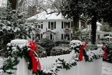 christmas colonial homes with snow - Google Search